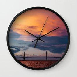 Charleston Sunset XII Wall Clock