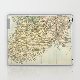 Vintage and Retro Map of Southern Ireland Laptop & iPad Skin