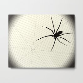 Scary spider Metal Print