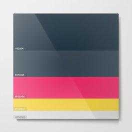 Palette Color hex Metal Print