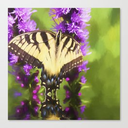 Summertime With Monarch Butterfly Canvas Print