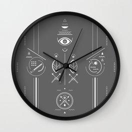 Mystical signs  Wall Clock