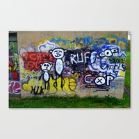 grafitti Canvas Prints featuring Grafitti by LoRo  Art & Pictures