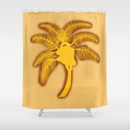 Heart Palm Tree Shower Curtain