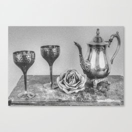 Goblet and flowers Canvas Print