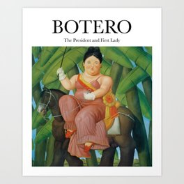Botero - The President and First Lady  Art Print