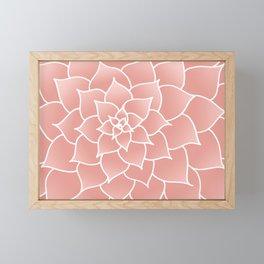Abstract Modern Pink Rose Flower Framed Mini Art Print