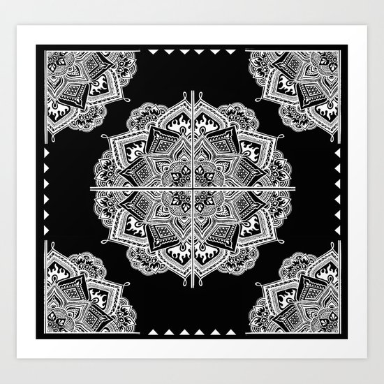 Mandala Lace (Tile) Art Print