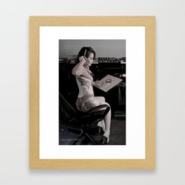 Take A Listen Framed Art Print