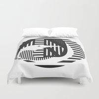 diver Duvet Covers featuring diver by Gray