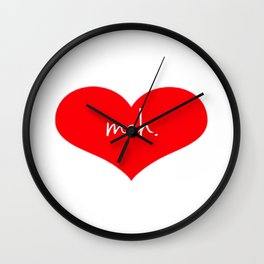 Heart Meh. Wall Clock