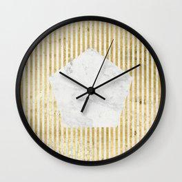Inverse penta gold Wall Clock