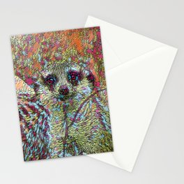 Abstract Meerkat Stationery Cards