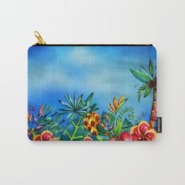 Exotic Colorful Flower Jungle - Aloha on #Society6 Carry-All Pouch