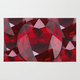 RED GARNET GEMS JANUARY BIRTHSTONE Rug