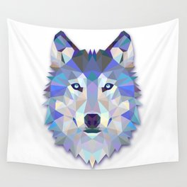 Colorful Wolf Wall Tapestry