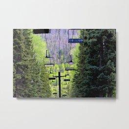 Ski Green Metal Print