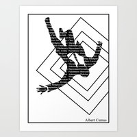 camus Art Prints featuring camus by Taylor Free