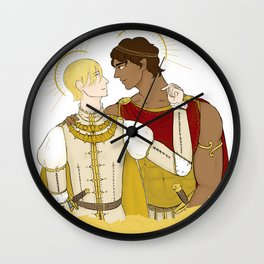 kind laurent and king damianos Wall Clock