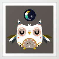 Magic Owl Art Print