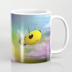 Bee Flying On Colour Sky Mug