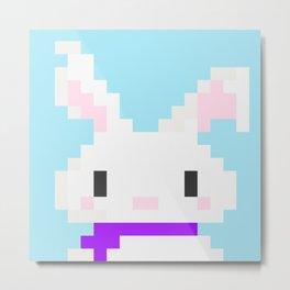 Conejo pixel Metal Print