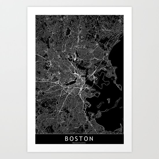 Boston Black Map by multiplicity