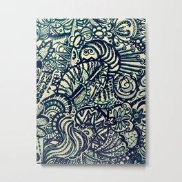 Befuddled Caterpillar Metal Print