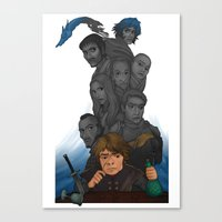 tyrion Canvas Prints featuring Longest Shadows by Awkwardly Social