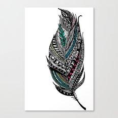 Single Aztec Feather  Canvas Print