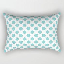 Aqua Polka Dots Rectangular Pillow