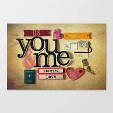 Collage Love - You & Me Canvas Print