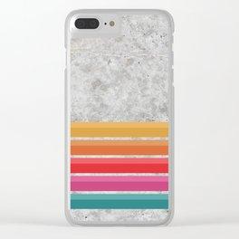 Retro - Horizon Concrete #569 Clear iPhone Case