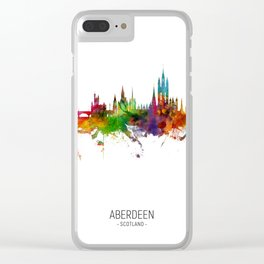 Aberdeen Scotland Skyline Clear iPhone Case