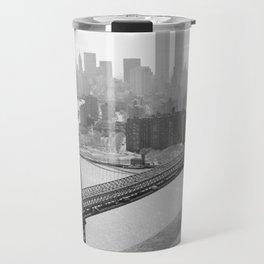 Photograph of NYC and The Williamsburg Bridge Travel Mug