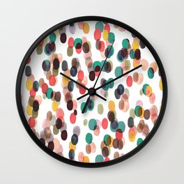 Tropical Relaxing Dots Wall Clock