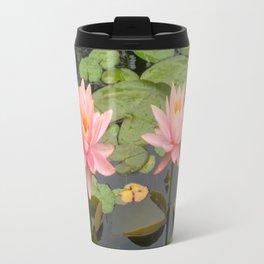 Pink Water Lilies Travel Mug