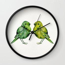 Parakeets Wall Clock