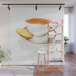 Cup of Tea and a biscuit Wall Mural