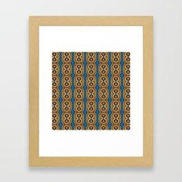 Beautiful Striped Beadwork Print Framed Art Print