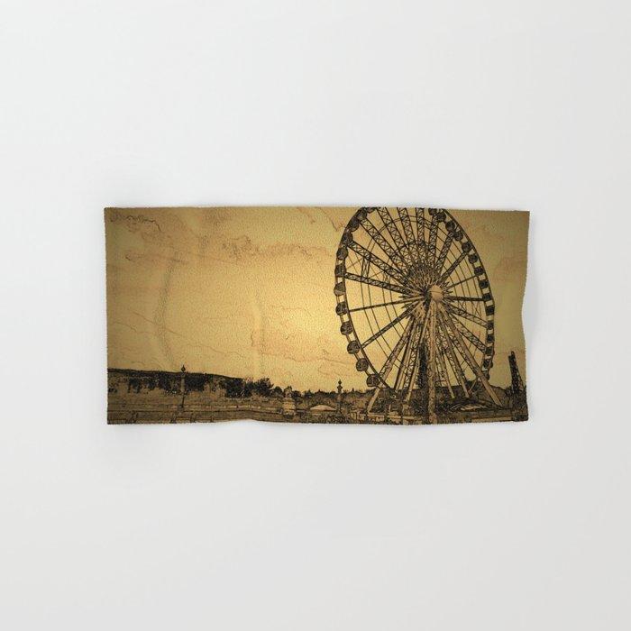 Ferris Wheel, Paris Hand & Bath Towel
