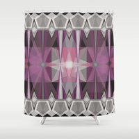 prism Shower Curtains featuring Pink Prism by Lunamumma