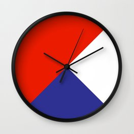 Triangles Retro Pop Art Abstract - Red White Blue Series Wall Clock