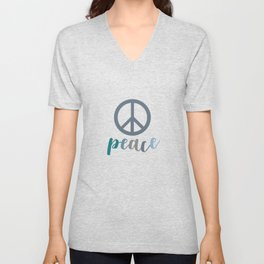 Peace- The symbol of peace Unisex V-Neck