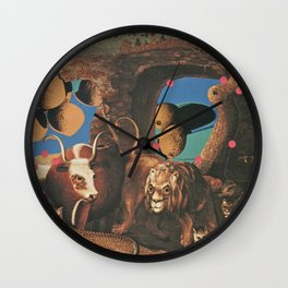 Warhol's Cantaloupes In The Peaceable Kingdom  Wall Clock
