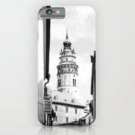 City of Croatia | Zagreb Simple Black and White Old World Medieval Architecture Beauty iPhone Case