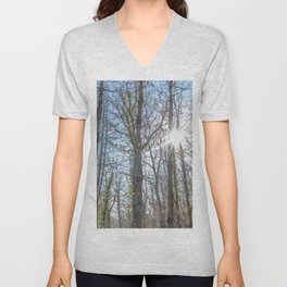 Sunrays on the forest Unisex V-Neck
