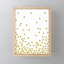 Golden Confetti Framed Mini Art Print
