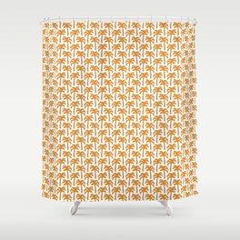 Orange Palm Trees Shower Curtain
