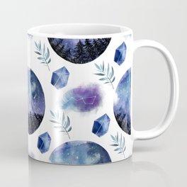 Forest Night Sky View Pattern Coffee Mug